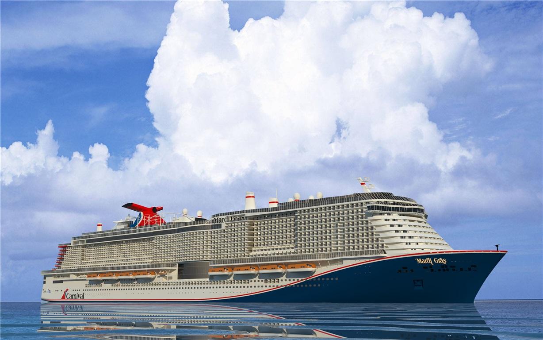 Das neue Flaggschiff von Carnival Cruise Line, die Mardi Gras, wird auf seiner Jungfernfahrt Schleswig-Holstein Landeshauptstadt Kiel anlaufen.