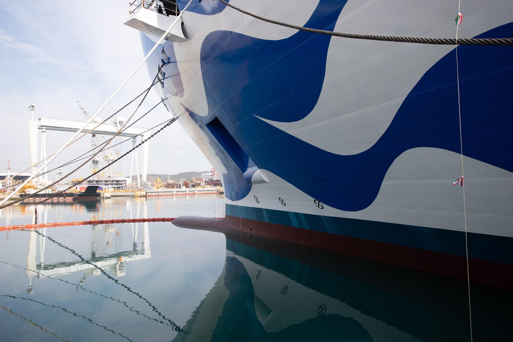 Fincantieri und Princess Cruises feierten Meilensteine der Bauzeit von drei Schiffen der Royal-Klasse, die sich verschiedenen Bauphasen befinden.