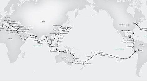 Die Stationen der Expeditions-Weltreise