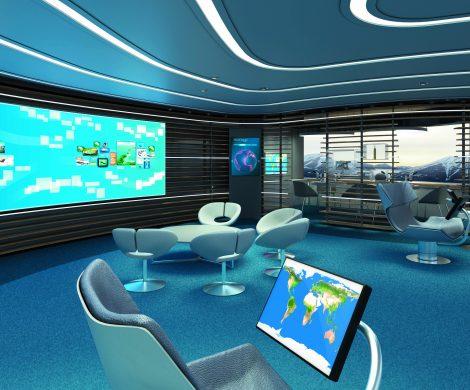 Hapag-Lloyd Cruises führt mit der Study Wall ein neues Konzept für digitale Wissensvermittlung an Bord der neuen Expeditionsschiffe HANSEATIC nature, HANSEATIC inspiration und HANEATIC spirit ein.