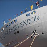 """Die """"Seven Seas Splendor"""" mit Platz für 750 Passagiere hat jetzt am Standort Ancona des italienischen Werften-Konzerns Fincantieri Stapellauf vollzogen."""