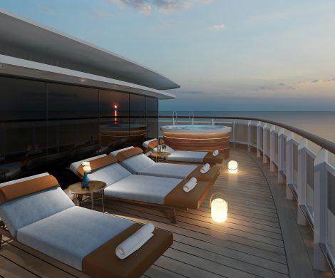 Die Seven Seas Splendor von Regent Seven Seas hat in der Fincantieri-Werft in Ancona zum ersten Mal Wasser unter dem Kiel. Jetzt werden auf der Seven Seas Splendor noch die Innenausbauten vorgenommen