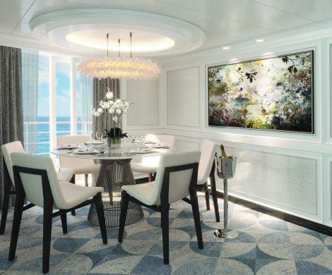 So schön wird die Seven Seas Splendor (mit vielen Bildern):Die Regent Suite wird die eleganteste Suite sein, die jemals auf einem Luxusschiff gebaut wurde.