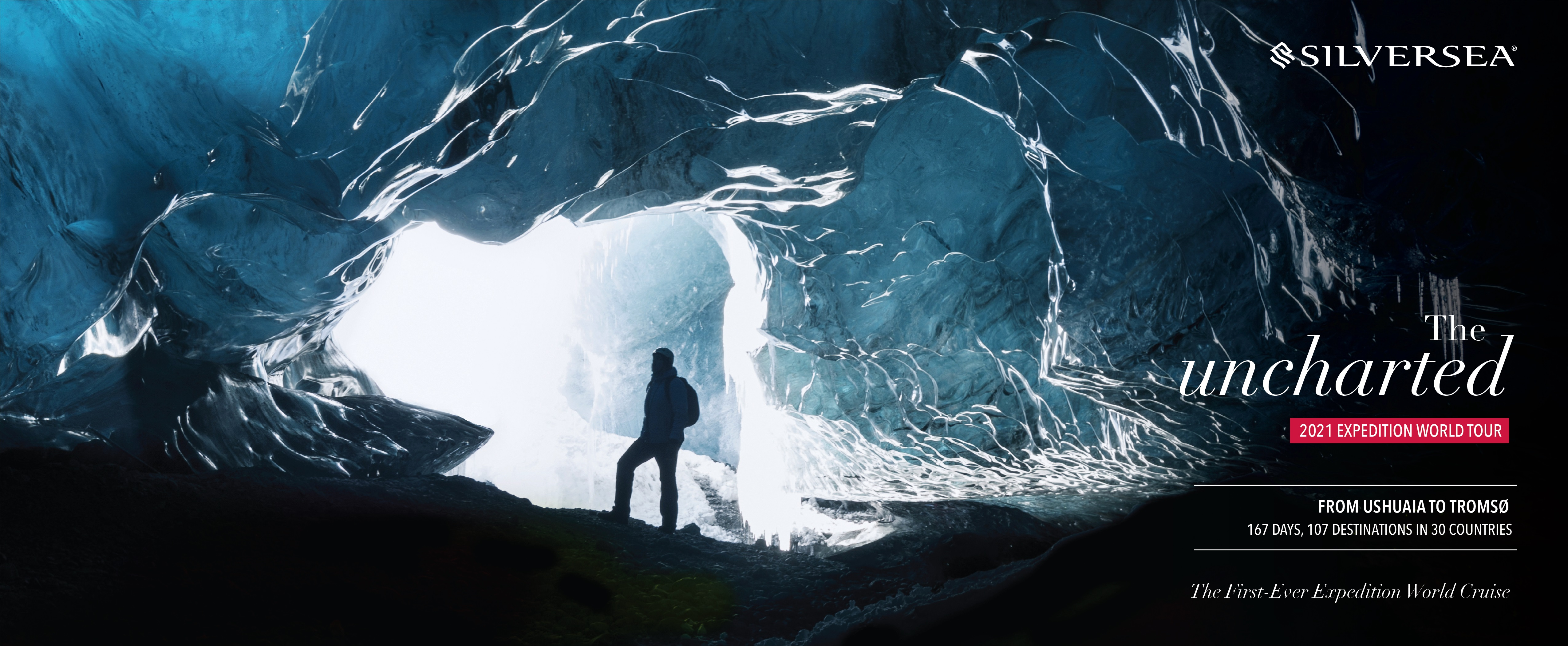 Silversea geht im Jahr 2021 mit der Silver Cloud auf Expeditions-Weltreise: 167 Tage langen, mehl als 39.000 Seemeilen, 30 Länder auf sechs Kontinenten