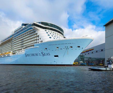 Die Spectrum of the Seas, soll am Dienstag die Meyer Werft verlassen und auf die Ems-Überführung gehen, mit Links zu Livecams und Live-Übetragung
