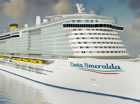 Costa Crociere hat die Aufschwimm-Zeremonie der Costa Smeralda in Turku gefeiert, die Schiffstaufe wird am 3. November 2019 in Savona stattfinden