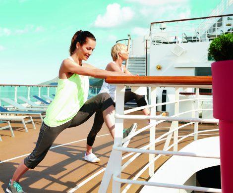 TUI Cruises hat für die Saison 2019 spezielle Wellness- und Sportreisen auf den Schiffen der Flotte aufgelegt:Mein Schiff bietet verschiedene Aktivreisen an.