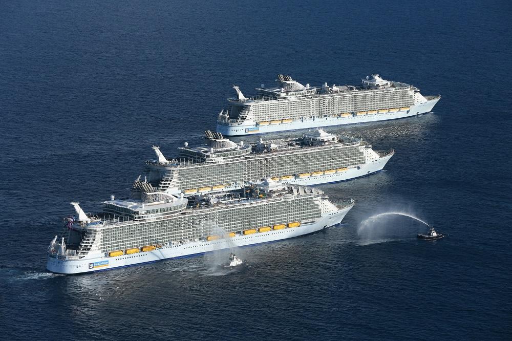 Royal Caribbean International feiert den Baubeginn des fünften Kreuzfahrtschiffes der Oasis-Klasse, in der französischen Werft Chantiers de l'Atlantique