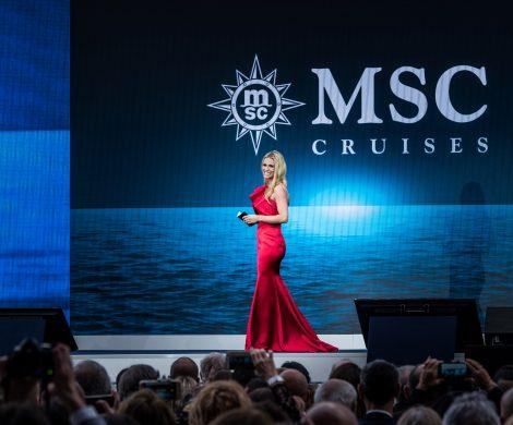 Bei der Taufe der MSC Grandiosa im Hamburger Hafen am 9. November wird Michelle Hunziker durch den glamourösen Abend führen.