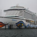 Erstanlauf der AIDAprima im Kieler Hafen: Zum Abschluss ihrer Transferreise traf das Kreuzfahrtschiff aus Dubai kommend am Ostseekai ein.
