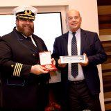 Die AIDAnova hat erstmals in Marseille angelegt. Kapitän Boris Becker begrüßte zahlreiche Vertreter aus Politik, Hafenwirtschaft und Tourismus an Bord