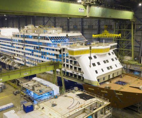 Die Spirit oft Discovery der Reederei SAGA Cruises,wird amSonntag, den 26. Mai 2019 die Meyer Werft verlassen und auf der Ems nach Emden überführt.
