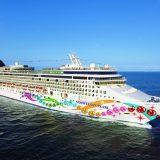 """Gleich zwei Erstanläufe gibt es in Rostock: Am Montag nehmen die Kreuzfahrtschiffe """"Norwegian Pearl"""" und """"Viking Jupiter"""" Kurs auf Warnemünde"""