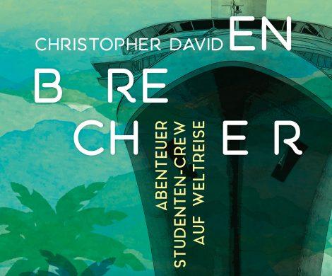 Rezension Buch Die Wellenbrecher von Christopher David aus dem Verlag Conbook. Roadmovie auf einem Kreuzfahrtschiff mit gelungenem Portrait der Millennials