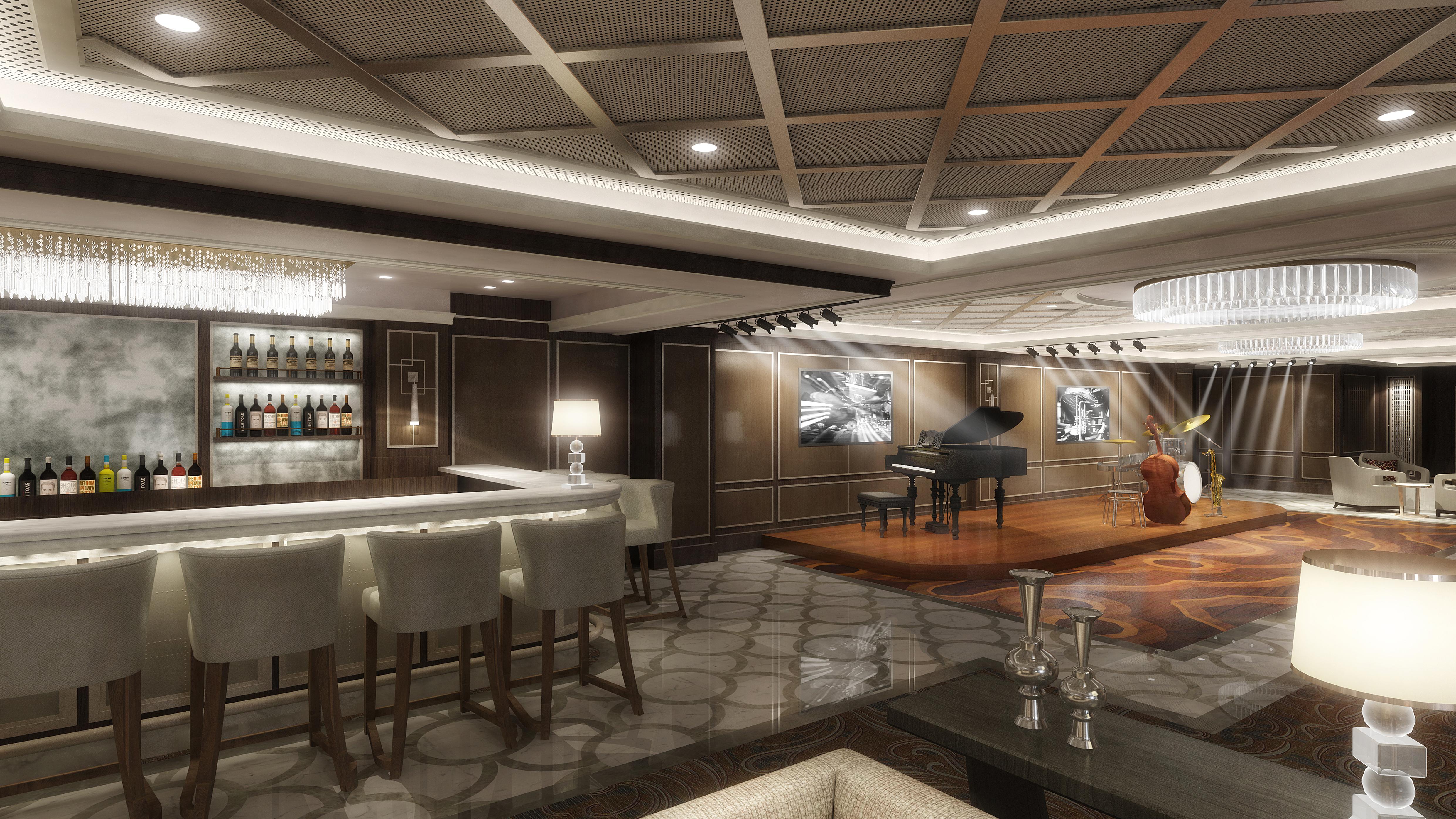"""Princess Cruises eröffnet die erste und bislang einzige Jazz-Arena auf See. Im """"Take 5"""" wartet ein Musik- und Performance-Erlebnis mit Live-Auftritten"""