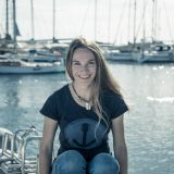 Weltumseglerin Laura Dekker tauft die HANSEATIC inspiration, das zweite neue Expeditionsschiff von Hapag-Lloyd Cruises am 11. Oktober im Hamburger Hafen.
