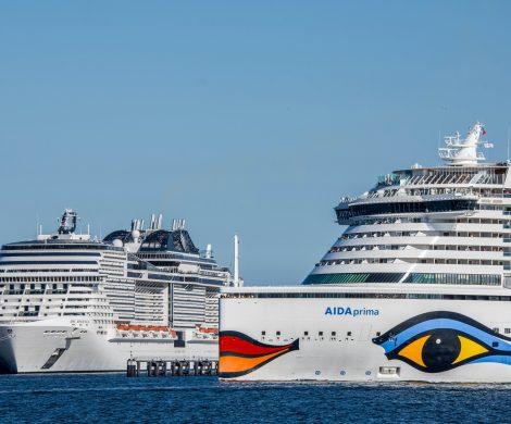 Rekord im Seehafen Kiel: 174 Anläufe von Kreuzfahrtschiffen (2018: 169), gut 800.000 Kreuzfahrtpassagiere (+ 33,6 %) gingen dabei in Kiel an oder von Bord