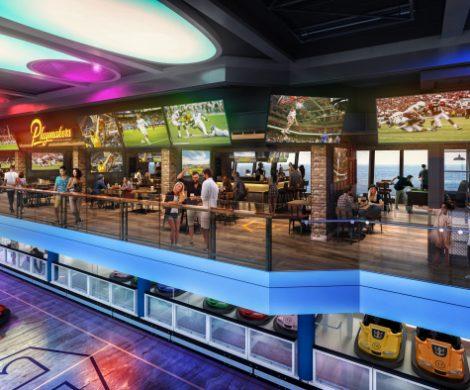 Die Odyssey of the Seas kommt mit Indoor-Freizeitbereich SeaPlex mit Autoscooter, Laser Tag, Spielkonsolen,Virtual Reality, interaktiven Wänden und Fußböden