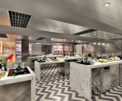 Passagiere der neuen Carnival Panorama können an einer Vielzahl ausgewählter Kochkurse teilnehmen, im ein eigens konzipierten Kochstudio auf Deck 4