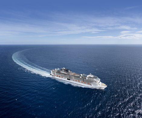 Die MSC Grandiosa feiert ihren Erstanlauf in Hamburg:Das Schiff wird am 9. November in Hamburg getauft und verfügt über hochmoderne SCR-Katalysatortechnik