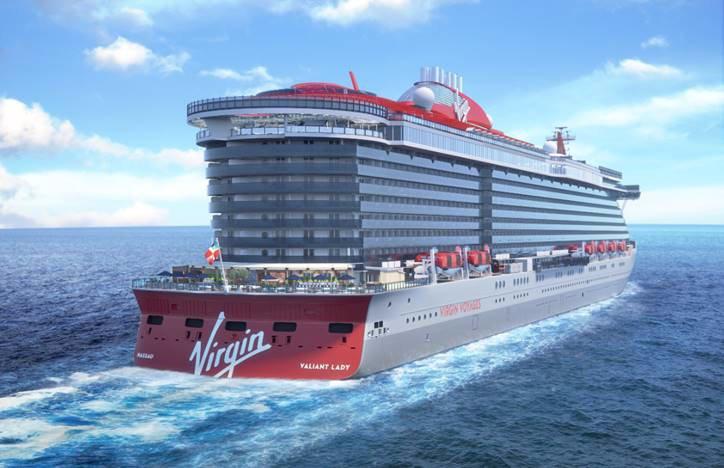 Die Reederei Virgin Voyages des britischen Milliardärs Richard Branson wird ihr zweites Schiff, das im Mai 2021 kommt, Valiant Lady taufen.
