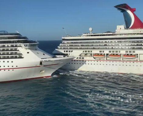 Im Hafen von Cozumel sind die beiden Carnivalschiffe Carnival Glory und Carnival Legend stießen aus bislang noch ungeklärter Ursache zusammengestoßen.