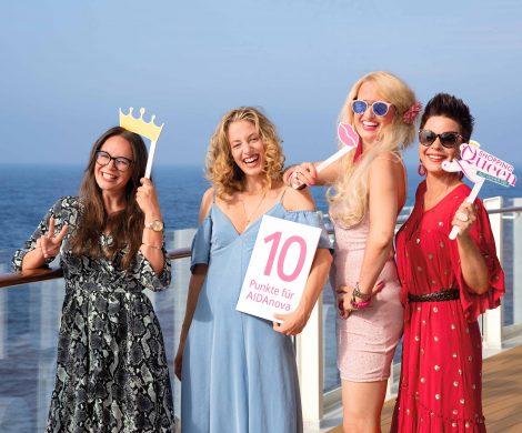 AIDA und VOX suchen zum zweiten Mal die Shopping Queen auf hoher See. Die Sendung ist am Sonntag, 26. Januar 2020, um 20:15 Uhr bei VOX zu sehen