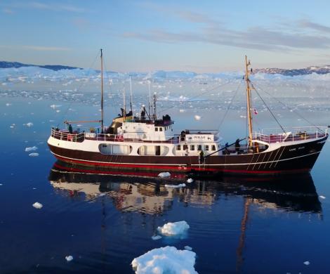Das Expeditionsschiff MS Cape Race des mareverlags liegt im Februar für einen Monat lang im Hamburger City Sporthafen und kann kostenlos besichtigt werden