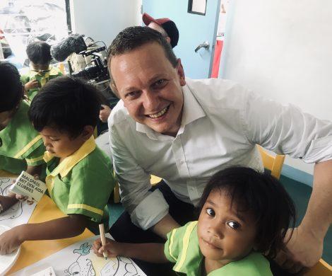 """Die Aida-Hilfsaktion """"Aida Cruise & Help"""" hat in nur einem Jahr zwölf Schulen in Entwicklungsländern gebaut, mit 160.000 Euro werden jetzt weitere gefördert"""
