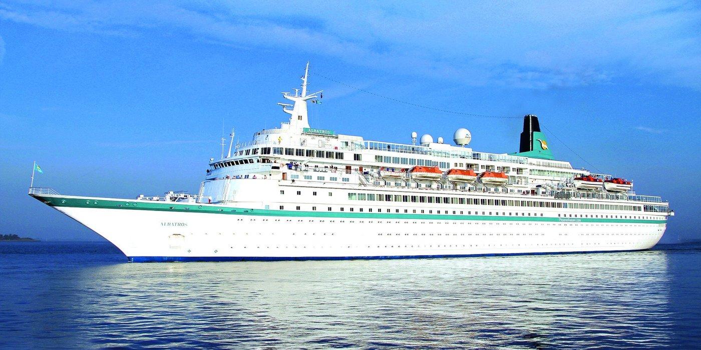 """Am Dienstag, 5. Mai, startet die neue Staffel der beliebten TV-Kreuzfahrtserie """"Verrückt nach Meer"""". Star des Formats ist die MS Albatros von ihrem Anbieter, dem Bonner Reiseveranstalter Phoenix Reisen auch liebevoll """"Weiße Lady"""" genannt"""