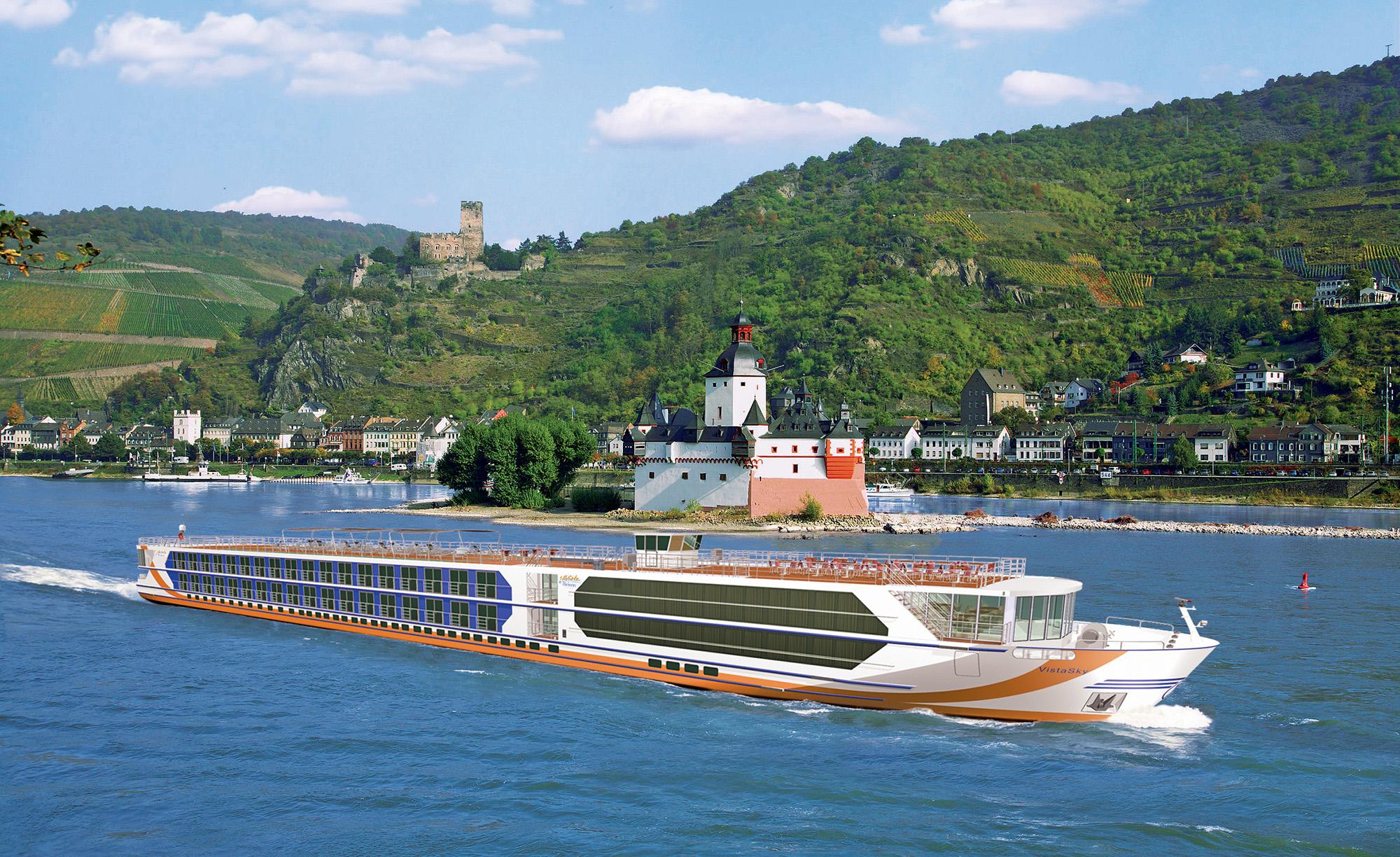 Das Flussschiff Vista Sky von 1A Vista Reisen startet in die Saison. Von Köln aus nimmt das Schiff der Deluxe-Klasse Kurs in Richtung Passau.