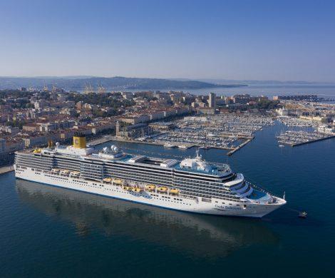 Mit dem Start der Costa Deliziosa ab Triest für eine Italien-Kreuzfahrt ist Costa Crociere nach Corona wieder eingestiegen