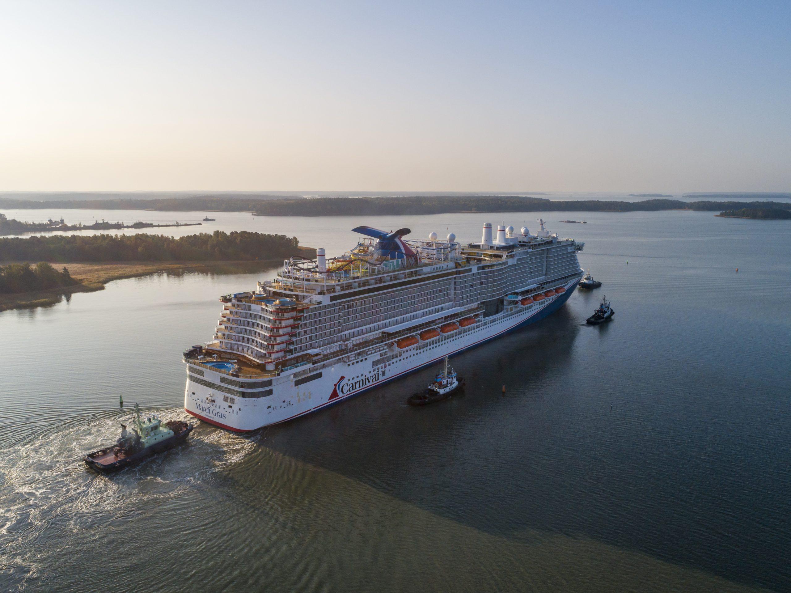 Die Mardi Gras von Carnival Cruise Line startet am 6. Februar 2021zu ihrer Jungfernfahrt - das erste LNG- Schiff der Reederei.