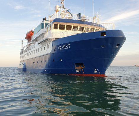 Das Expeditionsschiff MS Quest beendete jetzt seinen zweimonatigen Einsatz mit Wattenmeer-Expedition im Weltnaturerbe.