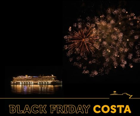 Black Friday Angebote von Costa Kreuzfahrten zwischen dem 20. 11. und 6.12., absolute Schnäppchenpreise ab 399 Euro für 7 Tage Kreuzfahrt