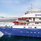 Poseidon Expeditions setzt in den Jahren 2022 und 2023 auf die Sea Spirit, ein kleines, Expeditionsschiff mit rund 100 Gästen.