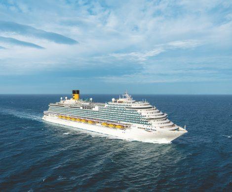 Costa Crociere hat die Costa Firenze von Fincantieri übernommen, Bruttotonnage 135.500 Tonnen und eine Kapazität von rund 5.200 Gästen