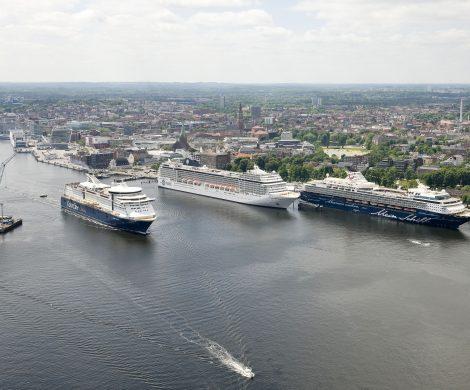 Der Seehafen KIEL hat mit minus 69,6 Prozent im Jahr 2020 einen beispiellosen Einbruch in Fährverkehr und Kreuzfahrt zu verzeichnen.