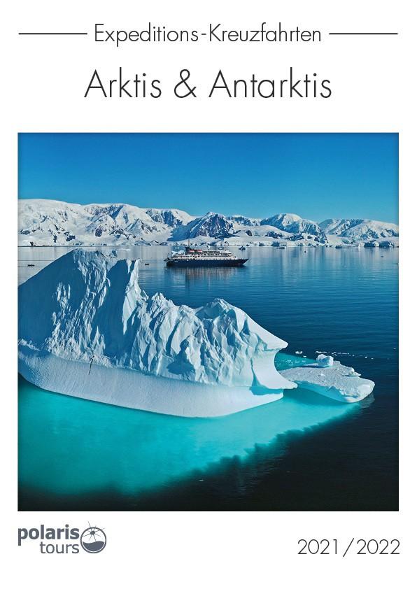 Polaris Tours, Spezialreiseveranstalter für Expeditions-Kreuzfahrten, hat im Katalog Arktis & Antarktis 2021/2022 130 Abfahrtstermine in der Arktis und 90 Abfahrten in der Antarktis.