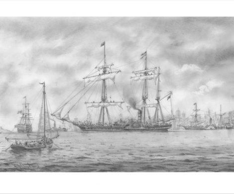 Die Britannia im Hafen von Liverpool
