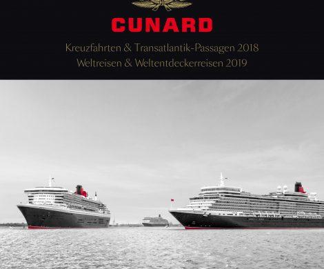 Der neue Cunard Katalog 2018/19