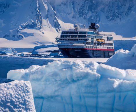Die Midnatsol in der Antarktis