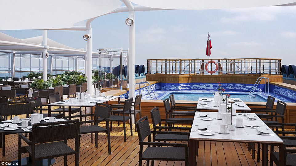 Die Queen Victoria wird für 39 Millionen Euro verschönert, auch der Poolbereich wird umgebaut