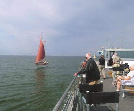 Bis Windstärke 5 kann die Saxonia problemlos auf der Ostsee fahren