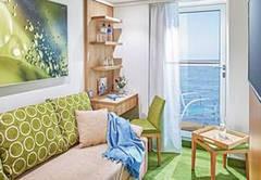 Auf den Schiffen der Heliosklasse gibt es bei AIDA erstmals Einzelkabinen mit Balkon