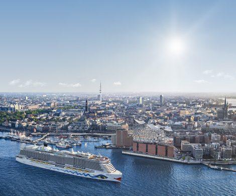 Die AIDAnova wird das erste Kreuzfahrtschiff der Welt, das mit LNG (flüssigem Erdgas) betrieben wird