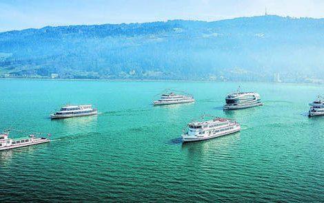Die Flotte von Voralrberg Lines ist auf Ausflugsfahrten und Events spezialisiert