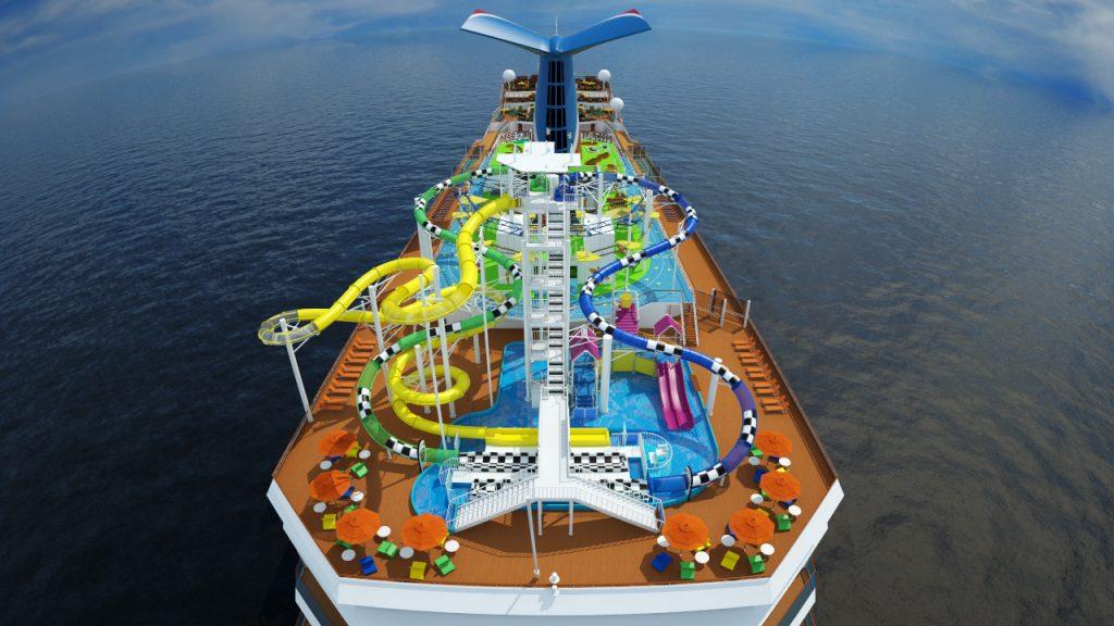 Wasserpark an Bord der Carnival Elation