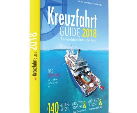 Vieles ist neu am Kreuzfahrt Guide für 2018: Der seit 2006 alljährlich im November erscheinende Überblick präsentiert sich in neuem Look.