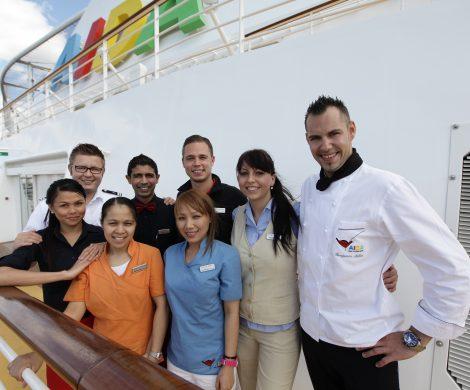 """AIDA Cruises wurde als """"Top Arbeitgeber 2017"""" ausgezeichnet und belegte den 1. Platz in der Kategorie Tourismus."""